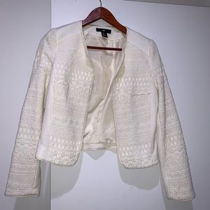 H&M Off White Cropped Jacket